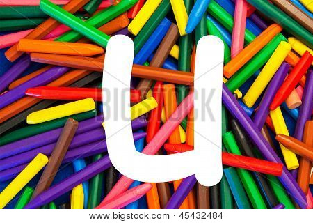 Letter U - Alphabet - Lower Case - Education / Schools / Teaching.