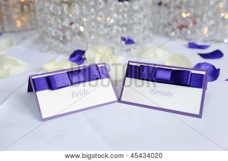 Bride And Groom Place Cards