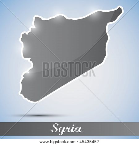 shiny icon in form of Syria