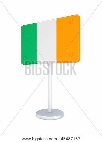 Bunner with flag of Ireland.