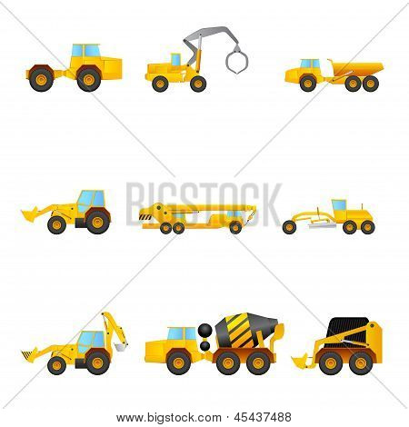 Set Of Building Machines