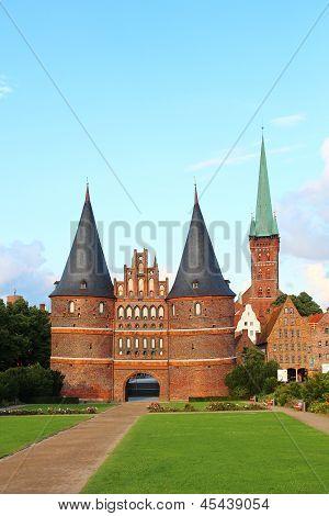 Holsten Gate, Lubeck, Germany