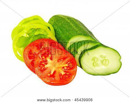 Fresh Sliced Vegetables.