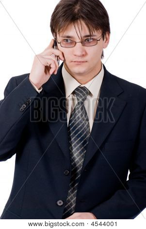 Young Businessman Calling By Cellular Phone