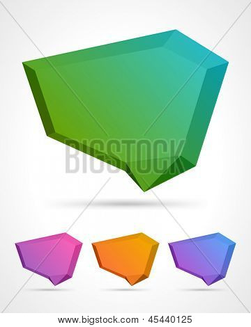 Abstract origami speech bubble vector background