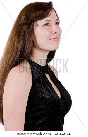 Close-up Of Satisfied Businesswoman