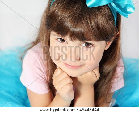 Cute Smiling Girl Portrait