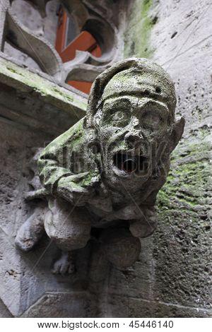 Gothic gargoyle on town hall in Munich