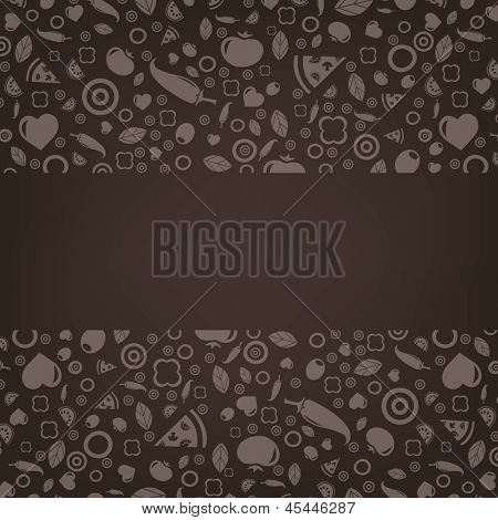 Restaurant Menu Design With Gradient Mesh, Vector Illustration