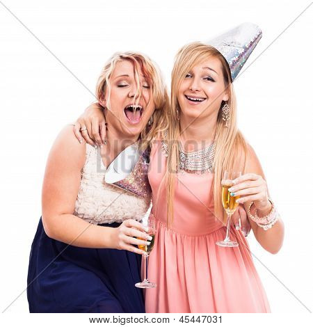 Ecstatic Drunken Girls Celebrate