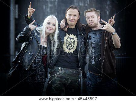 Fans at Megadeth gig at Tuska Festival