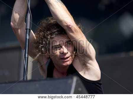 Overkill performs live on stage at Tuska Festival