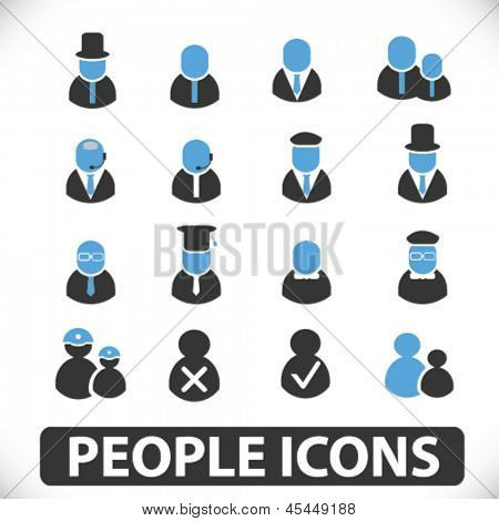 people icons: social users, assistance, person, teamwork, avatar, member, human resources, heads,  icons
