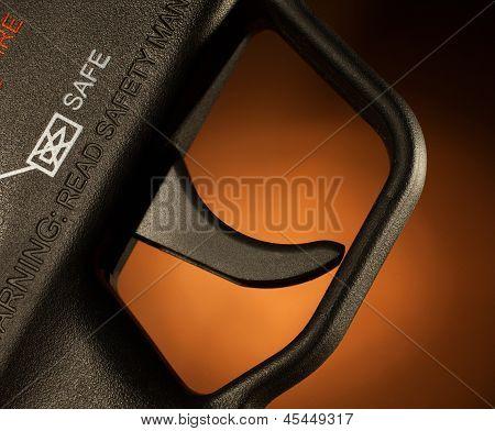 Brown Assault Rifle Trigger