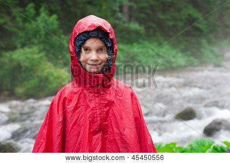 Little Girl In Raincoat