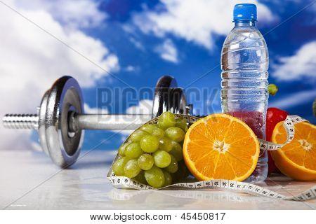 Sport diet,  measure tape