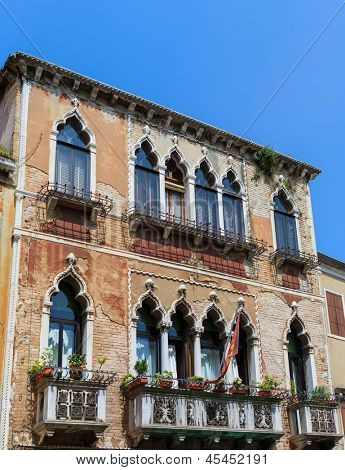 Traditionnal architecture of Venice Italy 48 megapixels file