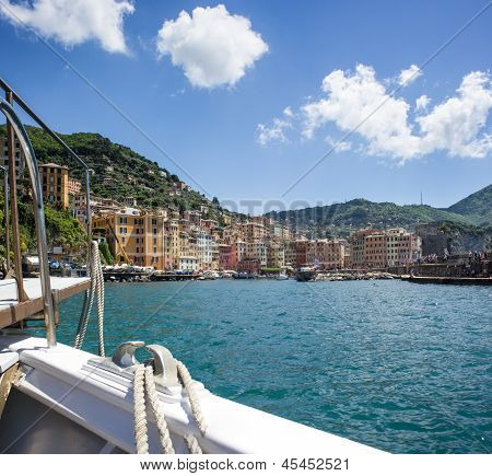 View of Camogli, Liguria coast
