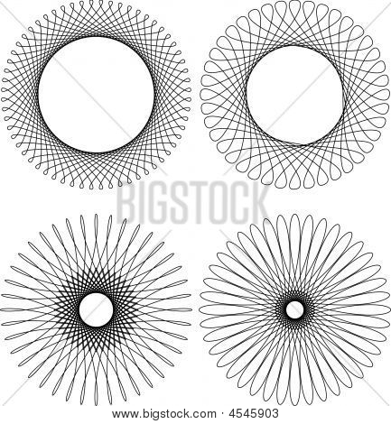 Spirograph Muster-Rahmen