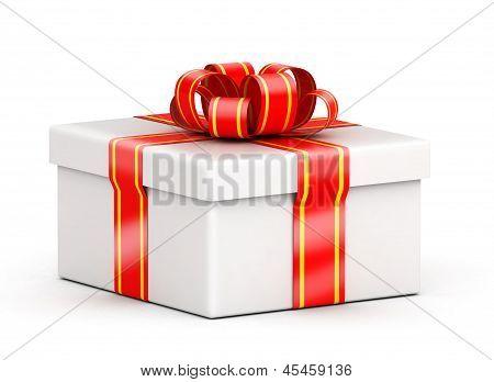 Low white gift box