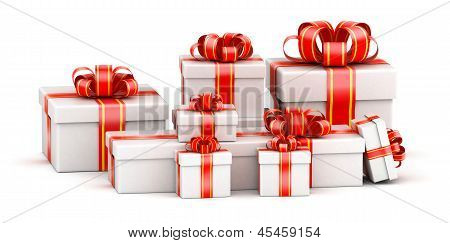 Pile of gift boxes