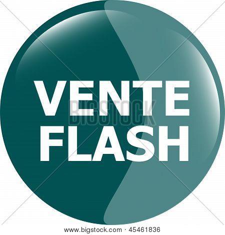 Vente Flash Button Icon, art illustration