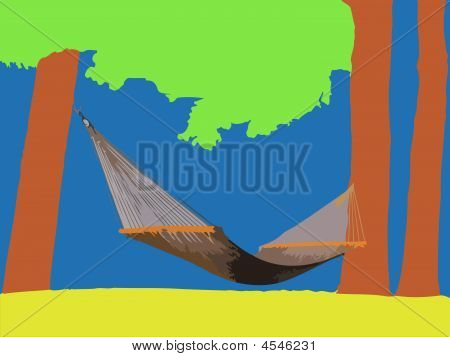 Hammock Hung Between Two Trees