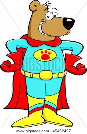 Cartoon superhero bear