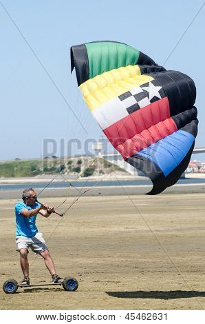 Francisco Costa On A Landing Kite