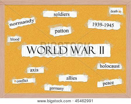 World War Ii Corkboard Word Concept