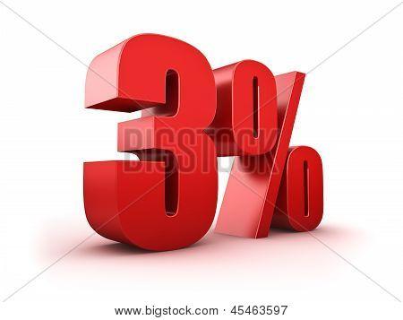 3 Por cento