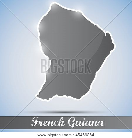 shiny icon in form of French Guiana