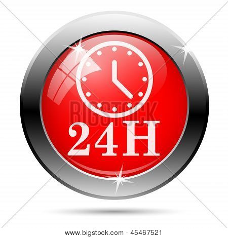 Clock 24 Hours Icon