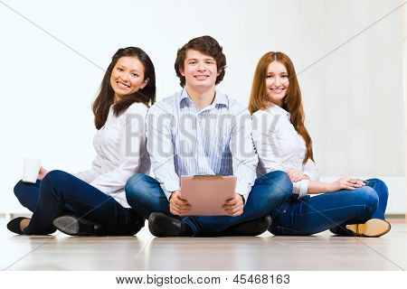 portrait of a group of young people
