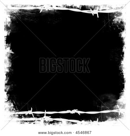 Barbed Wire Black Square