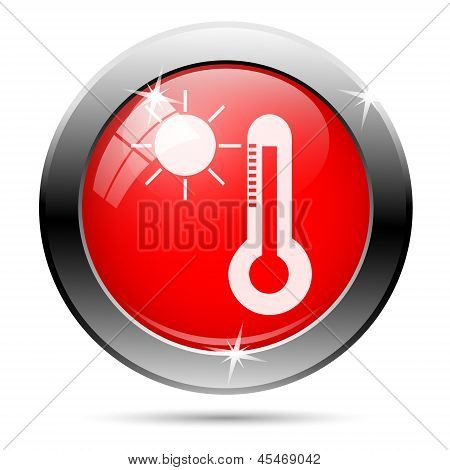 Thermometer And Sun Icon