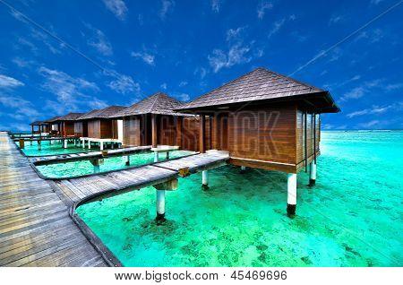 Beautiful water villa in beach