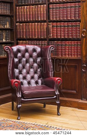 Chesterfield Chair In The Library