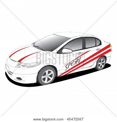 Sport Car - Hand Drawn