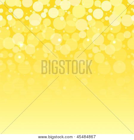 White bubbles on yellow horizontal seamless pattern, vector