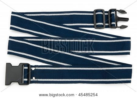 Blue Harness With Stich On White Background