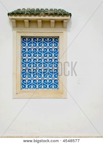 Traditional Blue Shutters In Tunisia