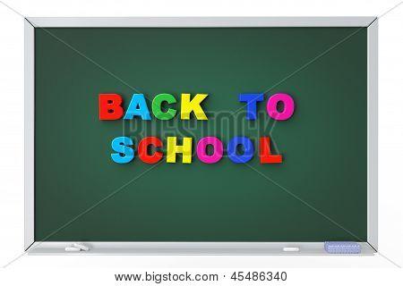 School Blackboard With Back To School Sign