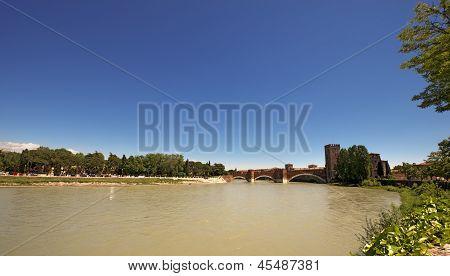 Castelvecchio At Sunny Day (1357) - Verona Italy