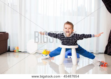 Kid At Home Playing