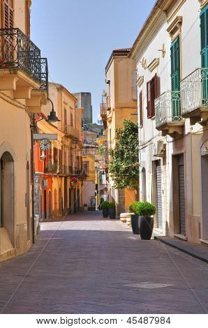 Alleyway. Melfi. Basilicata. Italy.