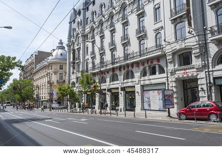 Bucharest, Romania - May 09: Downtown Bucharest Architecture On May 09, 2013 In Bucharest,romania. B