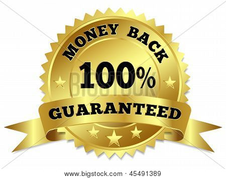 Dinheiro de volta garantido o crachá de ouro