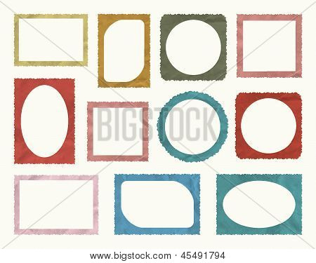 Retro Photo Frame Isolated Set