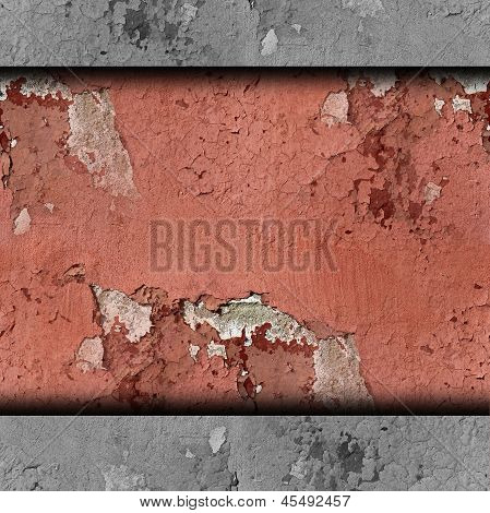 red wall plaster cracks paint background texture wallpaper